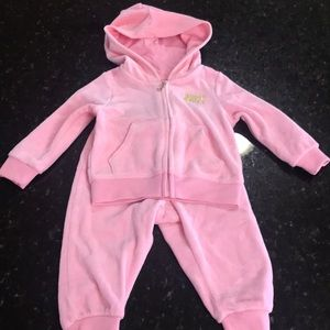 Juicy Couture pink tracksuit size 12 months